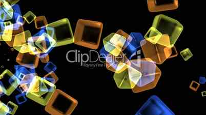 Video Footage Clip - color glass cubes shaped flower pattern and ic ...