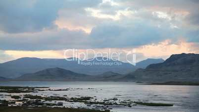 Video footage clip rapid mountain river in mongolian altai
