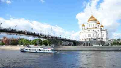 Rusija - Page 2 25--1197133-Cathedral%20of%20Christ%20the%20Saviour.%20Moskva%20River%20Moscow
