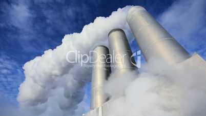 Chimneys & Steam at Geothermal Power Station