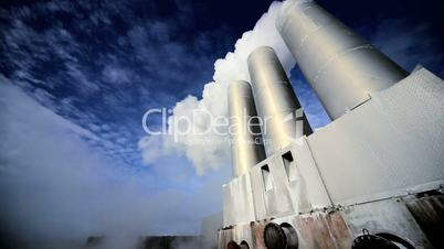 Chimneys at Geothermal Power Plant