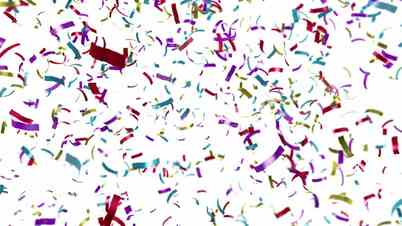 Video Footage Clip - Loopable clip of colorful confetti falling