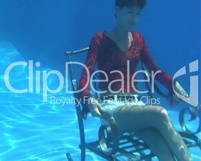 Video footage clip girl underwater 4 10a