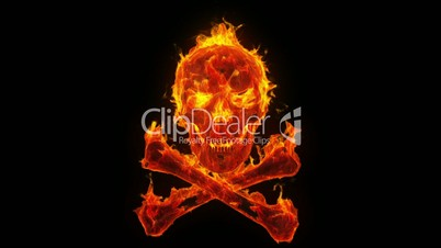 Burning skull and crossbones: Royalty-free video and stock ...