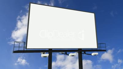 Billboard under the clouds royalty free video and stock for Panneaux publicitaires exterieur