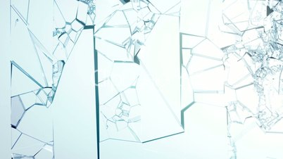 Cracked and shattered glass with slow motion alpha for Spiegel zerbrochen